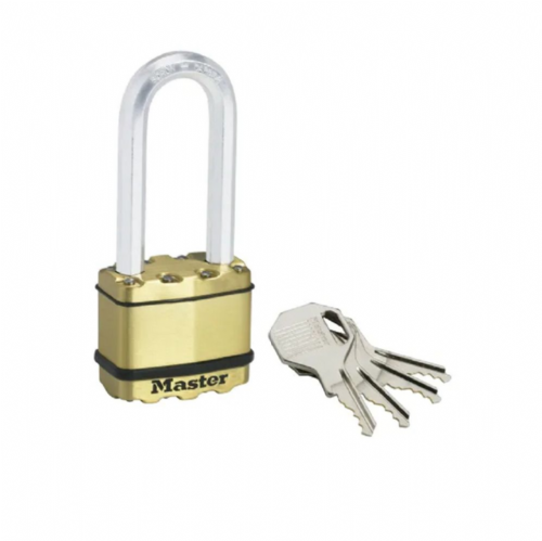 Master Lock M5BEURDLJ Excell Brass Finish 50mm Padlock - 64mm Shackle